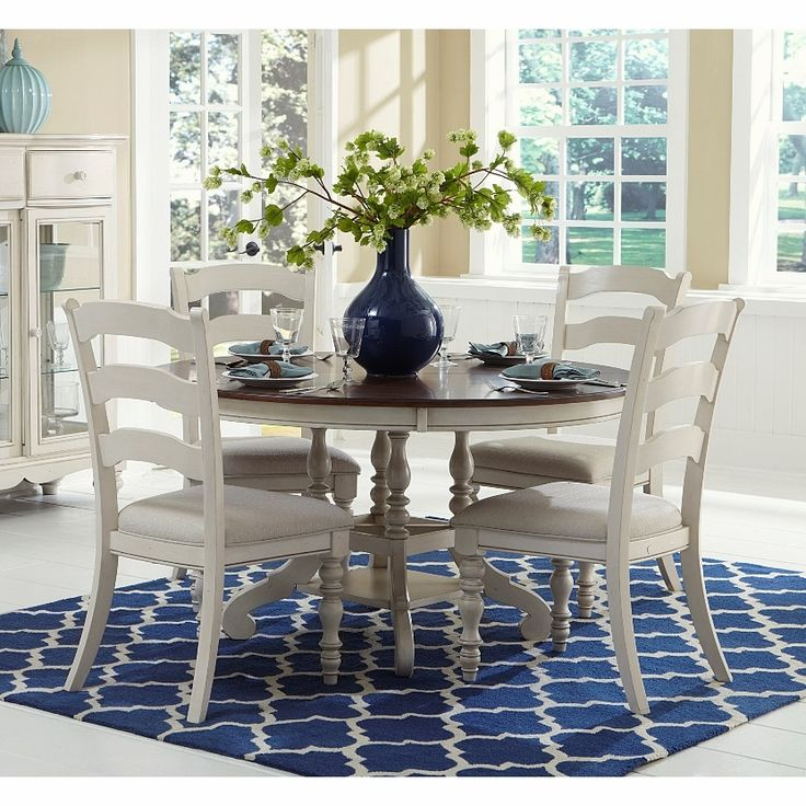Hillsdale - Pine Island 5Pc Round Dining Set With Ladder