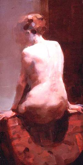 TS - Back, 2002 | Oil on panel | 13 x 7 inches - Alex Kanevsky