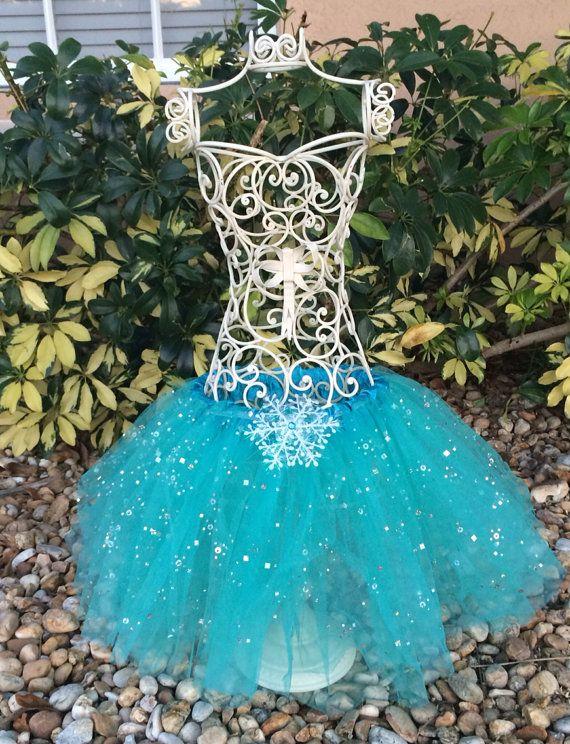 Teal Blue Frozen Tutu Elsa Frozen Frozen Party by partiesandfun