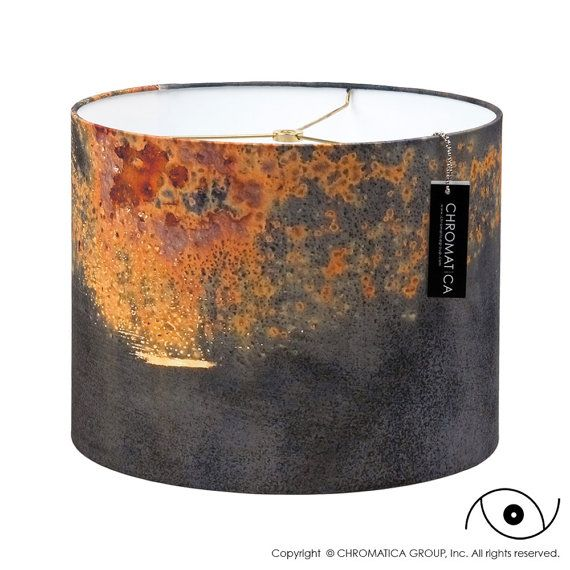 Titanic. Photography Lampshade, Rust, Red