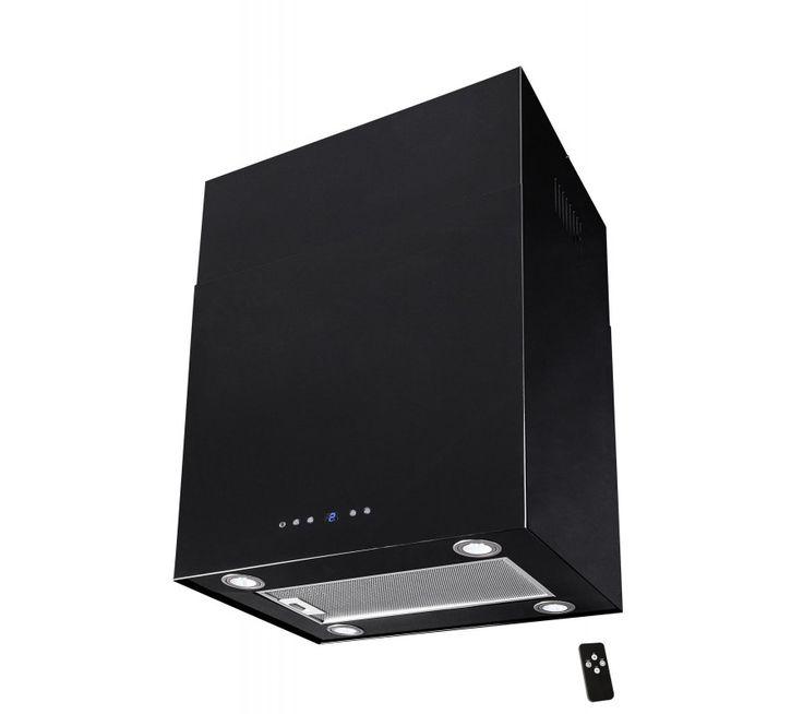 Lyx vägghängd skåp köksfläkt SEMPRE 40cm/ 60cm svart