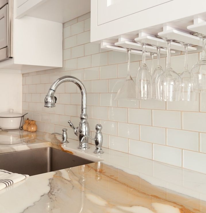 Marble Tile With Gold Grout Design Ideas Wainscoting Kitchen