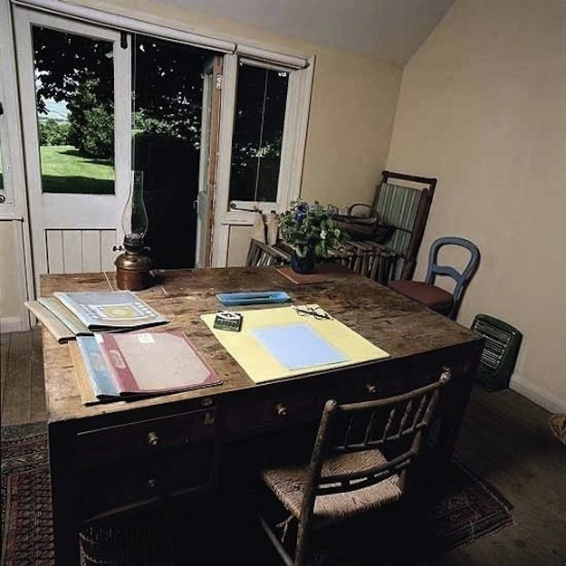 Werkplek van de Britse schrijfster Virginia Woolf