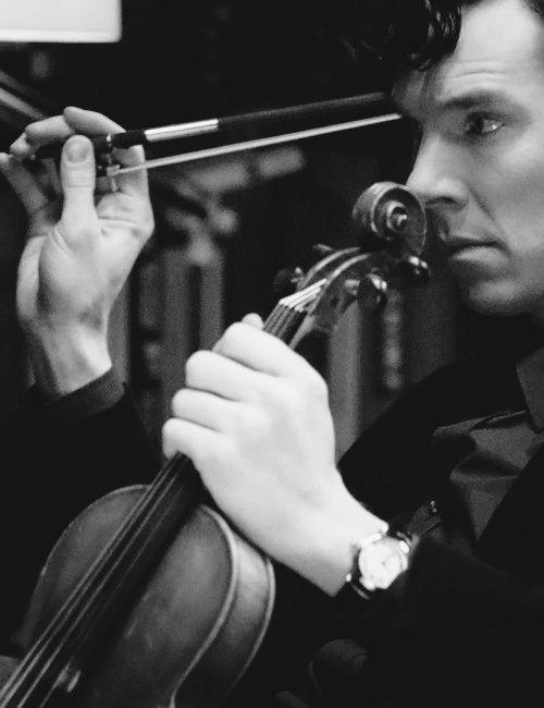 I play the violin when I'm thinking