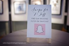 Wedding snapchat filter | Andrea King Photography