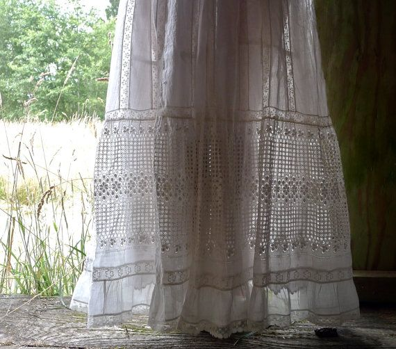 Summer Lawn Dress Eyelet Skirt and Blouse Size XS by marybethhale