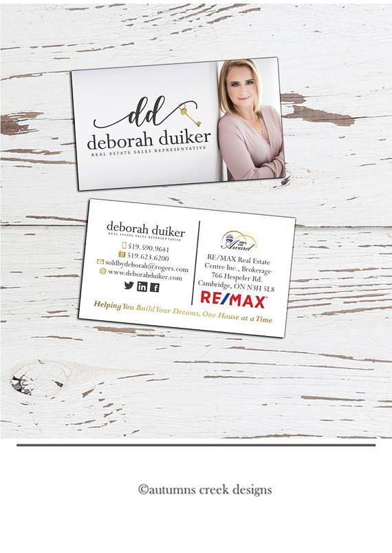 Business Card Design Real Estate Business Card Agent Business Etsy Business Card Design Photo Business Cards Realtor Business Cards