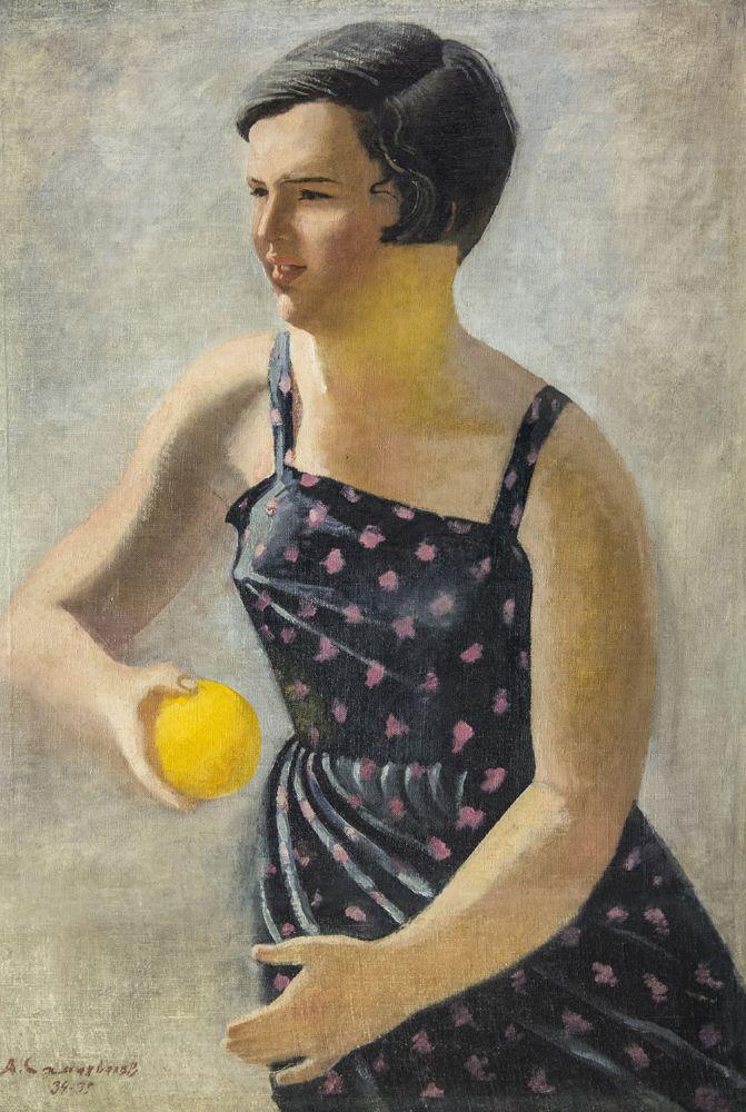 Самохвалов А.Н. Девочка с апельсином. 1934-1935