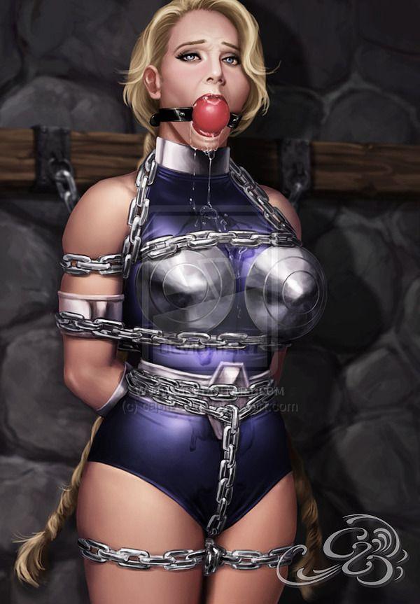 Lovely naked prissy in bondage