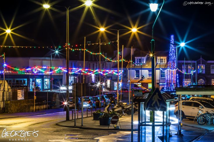 The Bridge looking very sparkly & festive this evening! #Guernsey #GreatThings Link to the whole collection of 'Georgie's Guernsey' :-http://chrisgeorge.dphoto.com/#/album/4daaes Picture Ref: 16_12_15 — in St. Peter Port, Guernsey, Channel Islands.