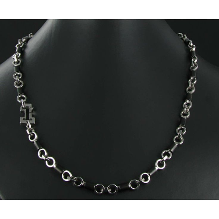 Man Necklace steel FIBO 3 - Fibo
