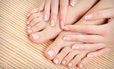 Basic Mani-Pedi, or One or Three Shellac or Gel Manicures, Up to 58% Off