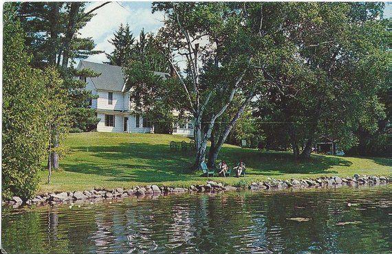 Colonial House Of Mirror Lake Inn Lake Placid New York 1969 Vintage Postcard Mirror House Colonial House Lake Placid New York