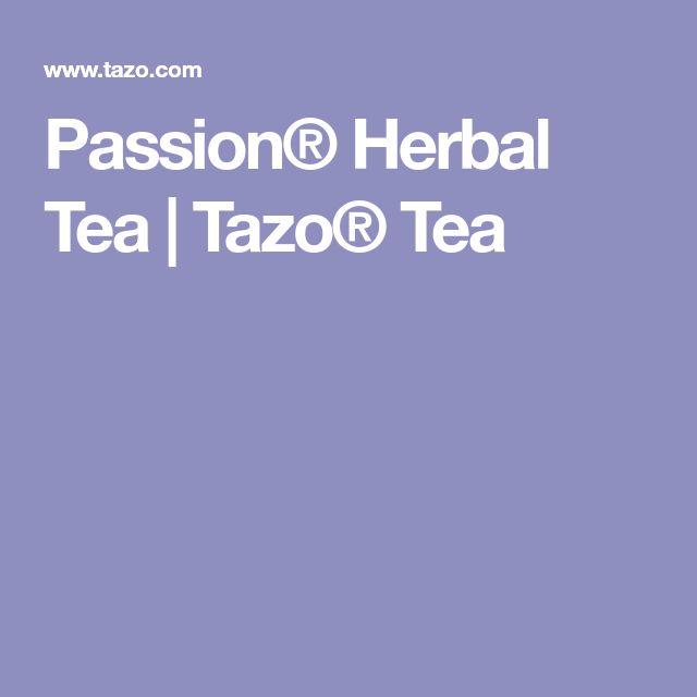 Passion® Herbal Tea | Tazo® Tea