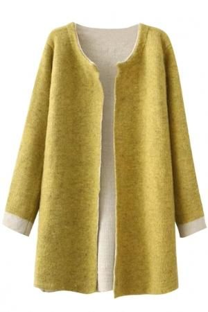 Thermal Knit Open Front Cardigan $36.00 by Oasap.com