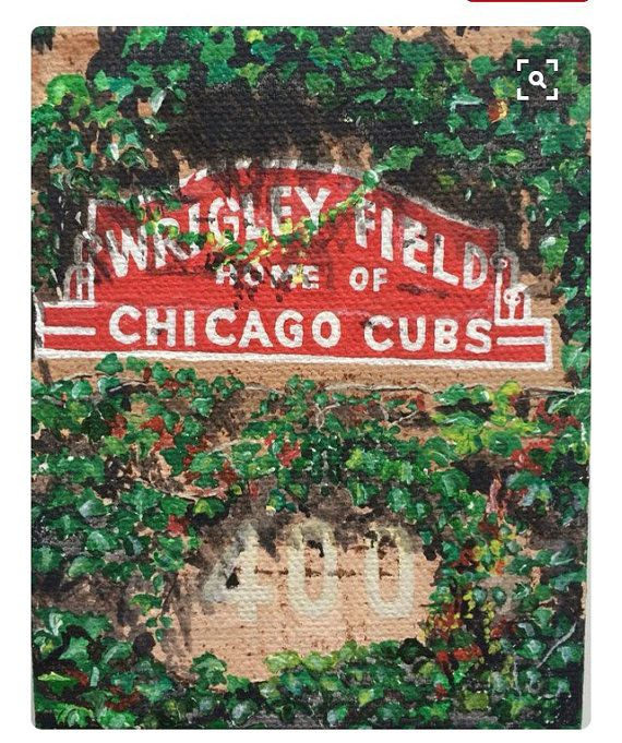 #LetsGo #Cubs.  Chicago Cubs Wrigley Ivy by MosaicArtandPainting on Etsy