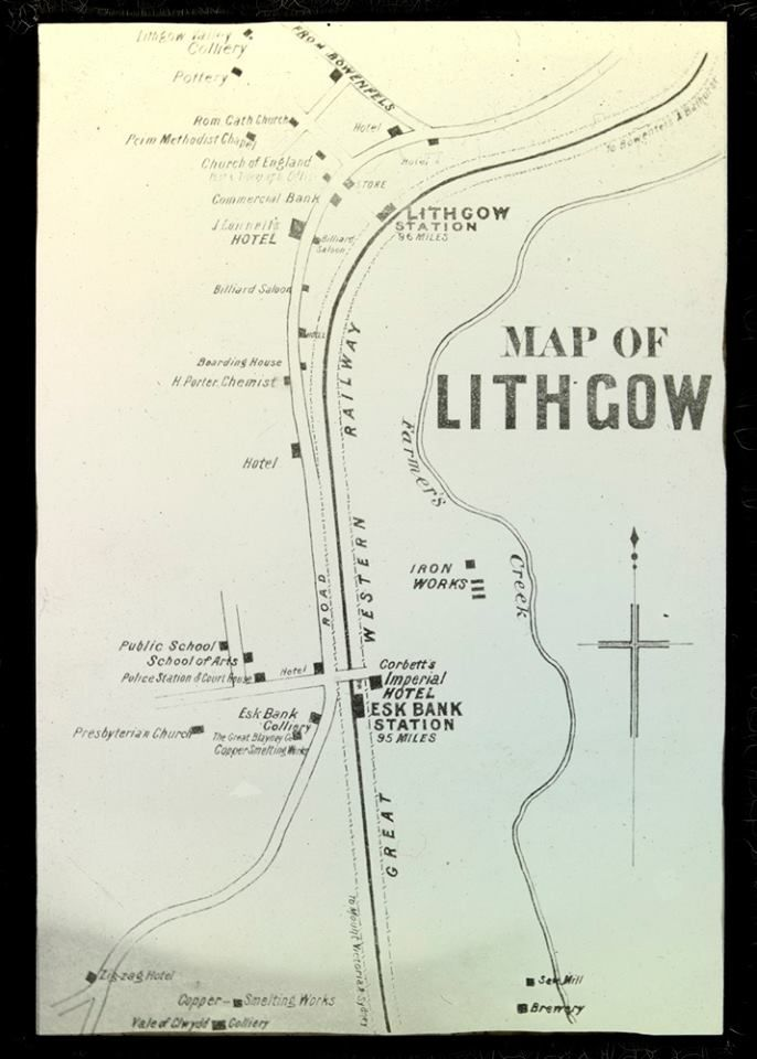 Old Map of Lithgow