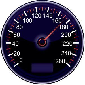 Car dashboard tachometers vector