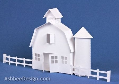 Ashbee Design Silhouette Projects: 3D Ledge Village – Barn--link found here: http://ashbeedesignsilhouette.blogspot.com/2013/07/barn.html link provided by: bjg