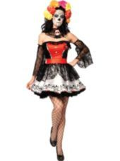 Adult Sugar Skull Costume-Party City