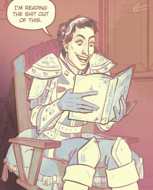 Oh, Cassandra XD THIS WAS BY FAR THE FUNNIEST MOMENT IN INQUISITION AND IT WAS THE LAST LINE XD