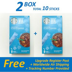 STARBUCKS VIA INSTANT SWEETENED ICED COFFEE 2 Box (10 ct) FREE SHIP + TRACKING | eBay