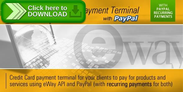 [ThemeForest]Free nulled download eWay Payment Terminal from http://zippyfile.download/f.php?id=42996 Tags: ecommerce, credit card, eway, mastercard, online payments, payment terminal, paypal, paypal recurring, rebill, recurring, recurring billing, Recurring Payments, virtual terminal, visa