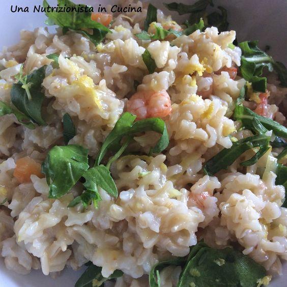 Una Nutrizionista in Cucina    : Riso Basmati integrale con gamberetti e rucola al ...