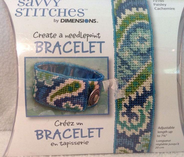 "Dimensions Savvy Stitches Needlepoint Bracelet Kit (1"" x 7.75"") - Paisley 73160 #Dimensions"