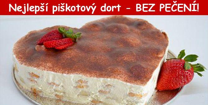 Excelentní piškotový dort s banány – BEZ PEČENÍ! Super chutný :)