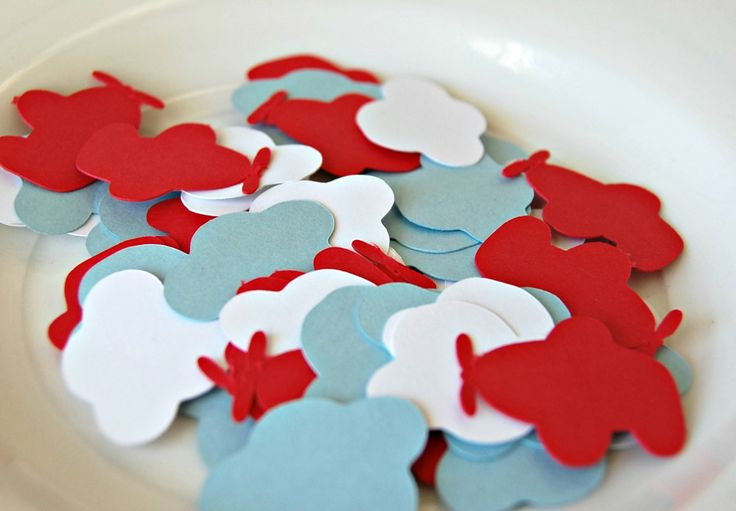 Airplane Cloud Birthday Party Confetti (100 pieces)
