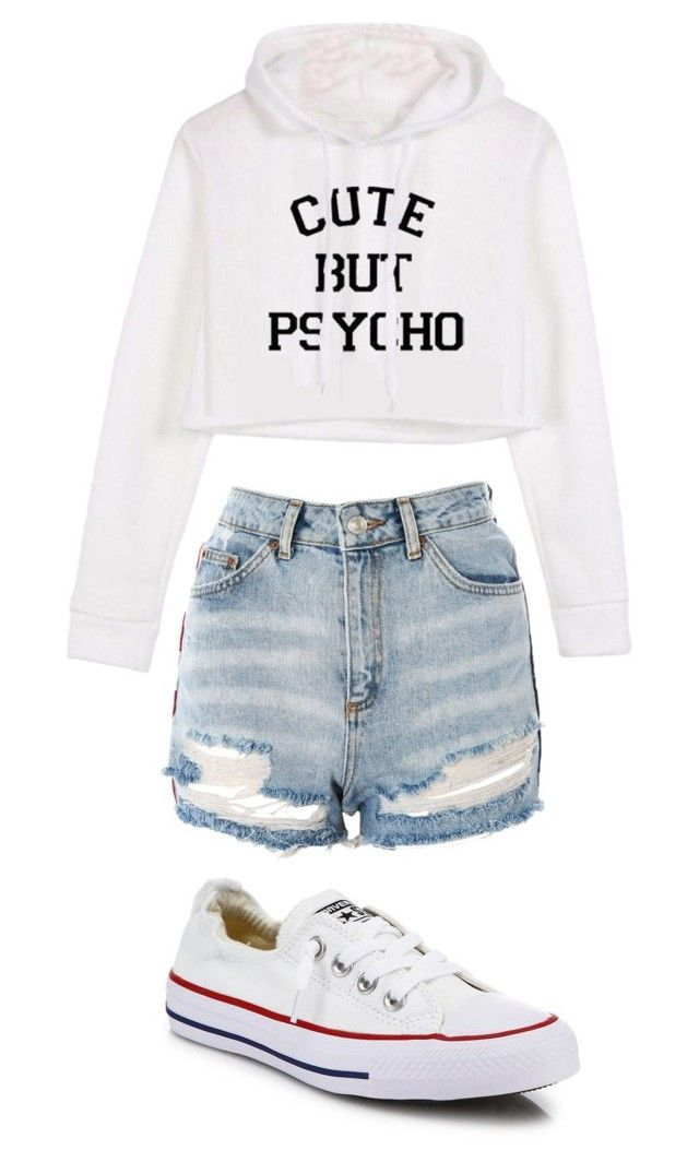 """Untitled #496"" by shyanimeguy on Polyvore featuring Topshop and Converse"