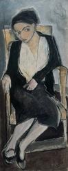 ARPAD SZENES  Portrait de Vieira, 1930 - óleo tela 130x54cm Col Fundação Arpad Szenes Vieira da Silva Lisboa