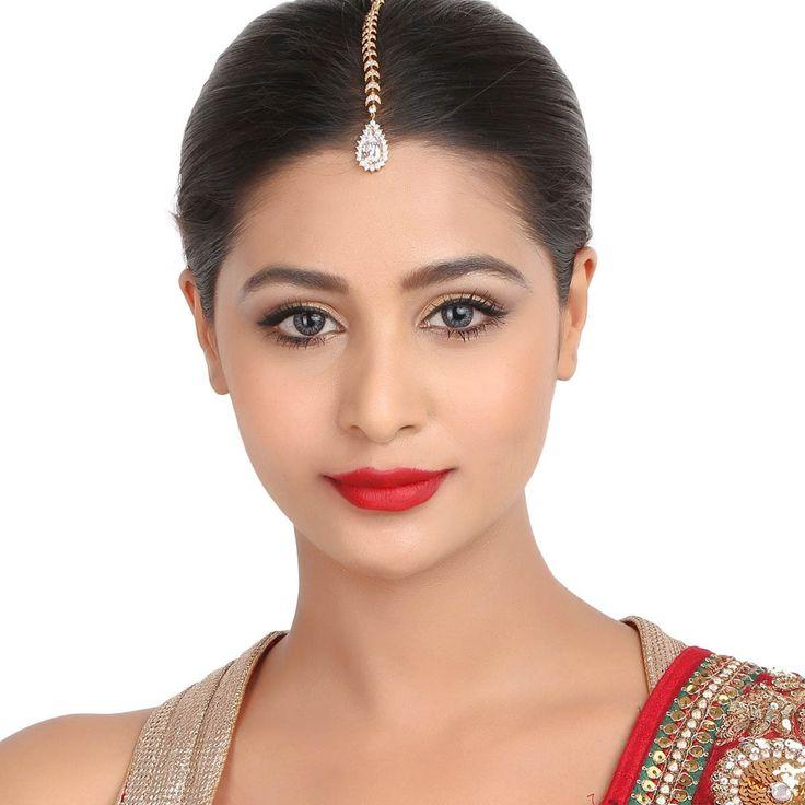 Zircon Tikka T1G #Kushals #Jewellery #FashionJewellery #IndianJewellery  #WeddingAccessories #Maang Tikka #Zircon