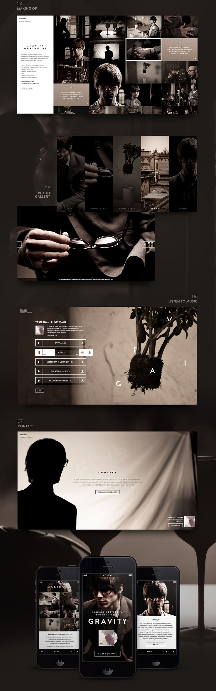 GRAVITY Sambor Kostrzewa on Web Design Served