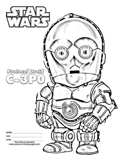 print star wars coloring pages for kids | 16 best Robot Coloring Pages images on Pinterest ...