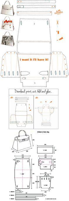 Hermès Kelly Bag Origami Paper Craft - i want it i'll have it…