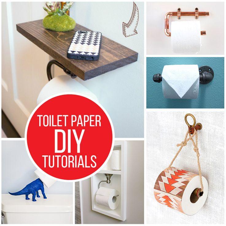 Diy toilet paper holder tutorials diy tutorials for your for Diy toilet paper storage