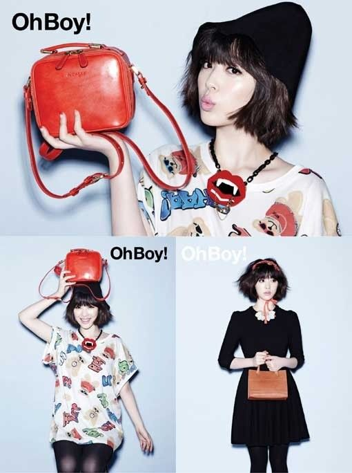f(x)'s Sulli turns into a chic hipster for 'OhBoy!' magazine