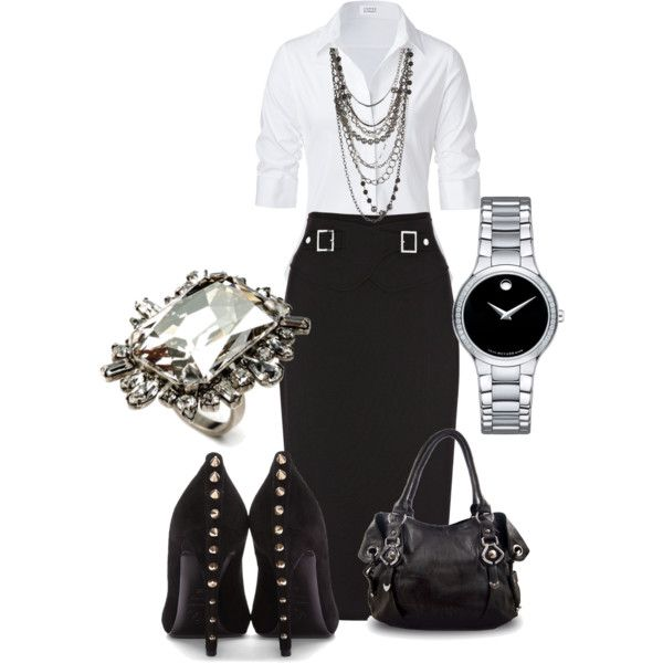 A fashion look from January 2013 featuring Steffen Schraut blouses, Karen Millen skirts and Alexander McQueen pumps. Browse and shop related looks.