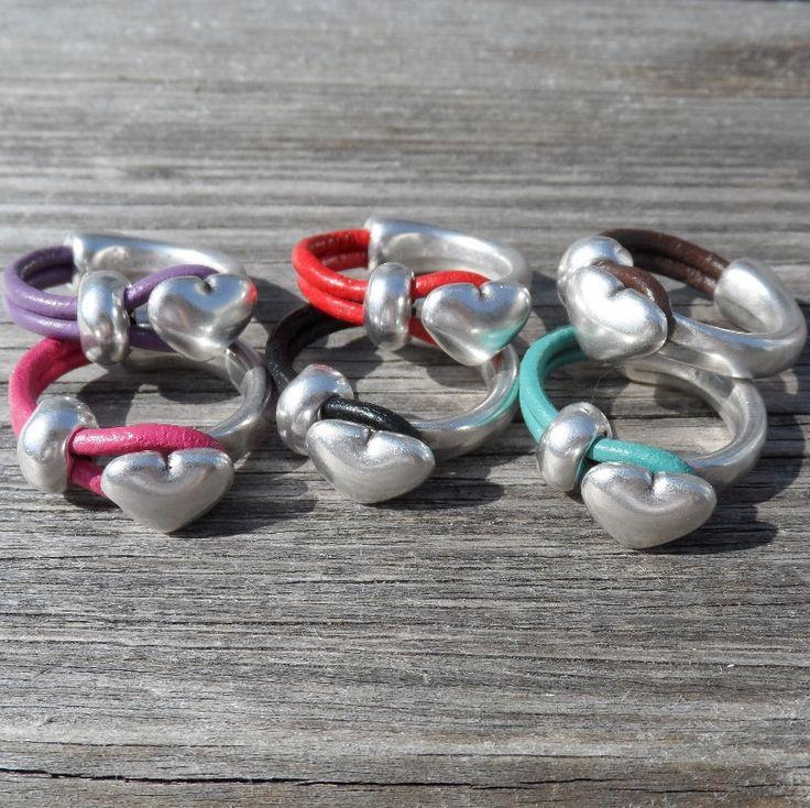 Leather heart ring – orlijewellery