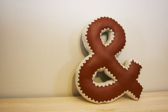 CUSTOM & Ampersand Decorative Pillow Accent by JoyfulHouseDesigns
