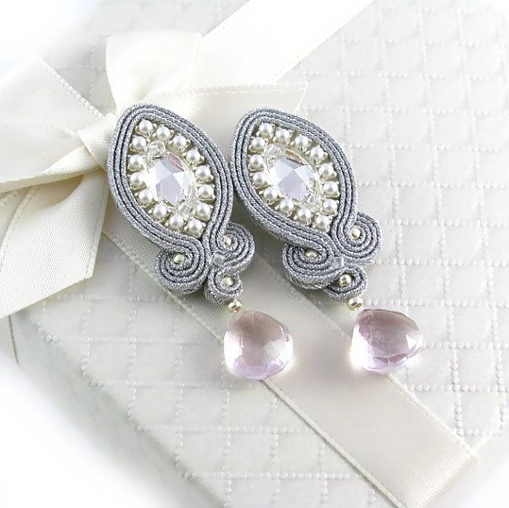Lady Teck  dangle earrings with Swarovski by byPiLLowDesign, $50.00
