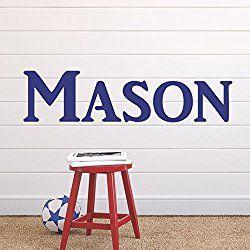 "Boys Nursery Personalized Custom Name Vinyl Wall Art Decal Sticker 36"" W, Boy Name Decal, Boys Name, Nursery Name, Boys Name Decor Wall Decals, Boy's Bedroom Decor, PLUS FREE 12"" HELLO DOOR DECAL"