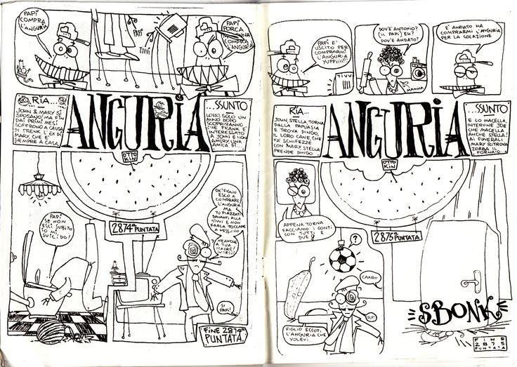 Anguria Katzyvari n.4 (Tresh) pagine 22 e 23, 1994 disegni e testi di Otto Kin