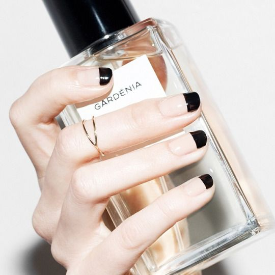 Black tips #nails | @andwhatelse //Manbo