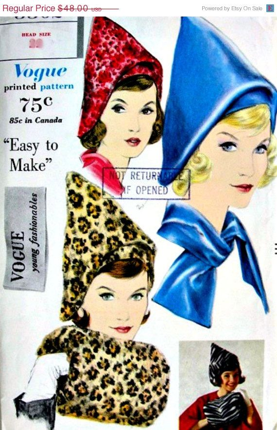 8 best Hats images on Pinterest | Hat patterns, Vintage sewing ...
