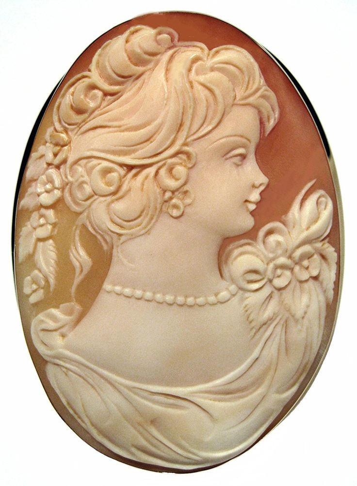 Lady Rose Cameo Pin Pendant 14k Gold Frame Canelian Conch Shell Italian Master Carved … * Continue to the product at the image link. (This is an Amazon Affiliate link and I receive a commission for the sales)