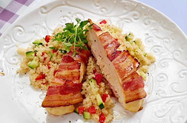 fylt -kylling-bacon