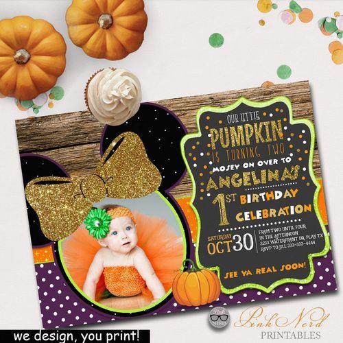 Minnie Mouse Halloween Invitation Minnie Halloween Birthday Invitation